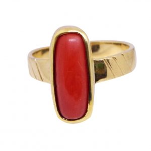 Coral Ring (Mugga Ring) From 3.85 carat/ 4.27 Ratti To10.10 carat / 11.22 Ratti