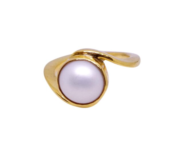 natural pearl ring or moti ring
