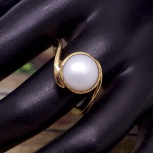 Natural & Certified Pearl Ring Of China / Moti Ring From 3.85 carat/ 4.27 Ratti To 10.10 carat / 11.22  Ratti