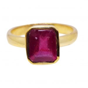 100% natural and certified ruby ring or manak ring