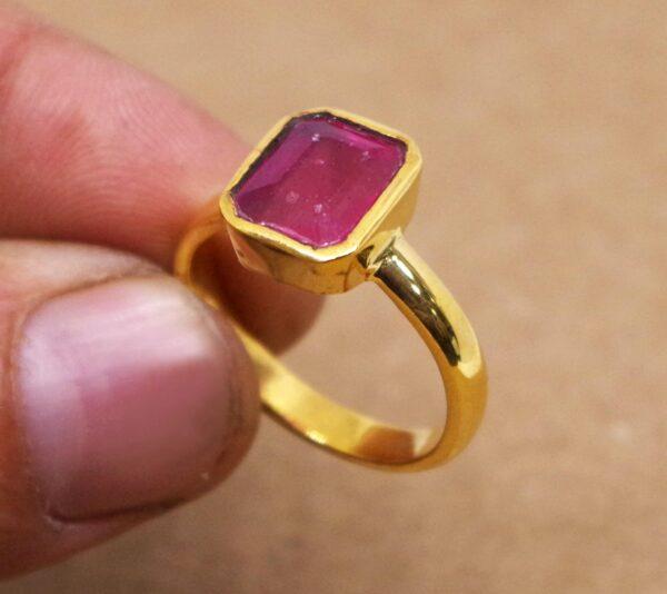 Natural ruby ring or manak ring