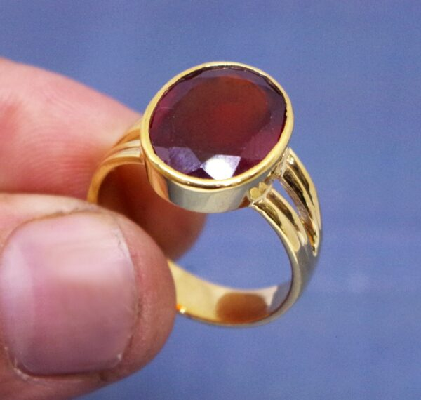 gomed ring / hessonite garnet ring