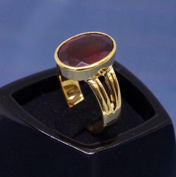 gomed ring / hessonite garnet ring