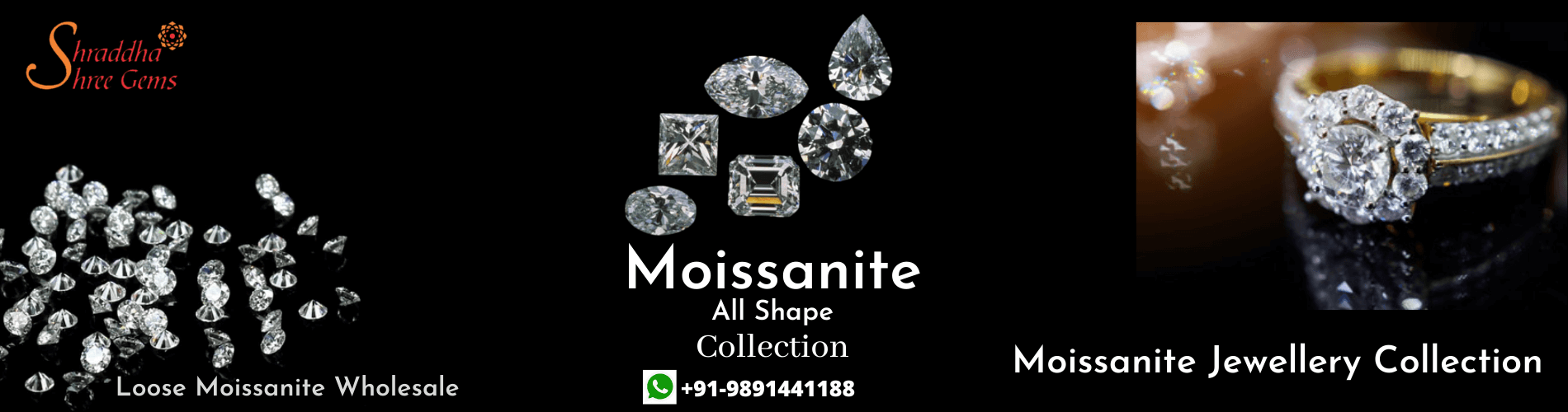 Moissanite Jewellery Collection Banner