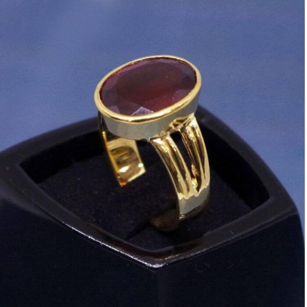 Gomed Ring ( Hessonite Garnet Ring)