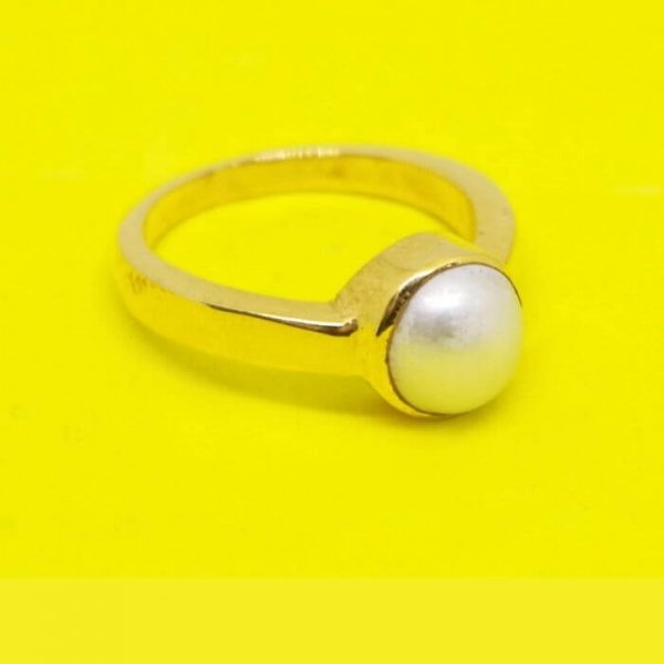 Natural & Certified Pearl Ring / Moti Ring Of South Sea