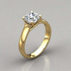 Cross Prong Moissanite Ring