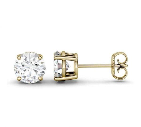 Moissanite Stud Earrings Ring