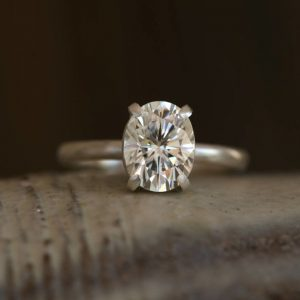 1.80 Ct Classic Oval Engagement Ring