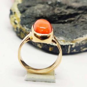 Natural Certified Coral Ring (Munga Ring) 3.80 to 8.30 Carat with Panchadhatu Astrology Ring for UniseX, Magic Ring For Remove Mangal Dosh