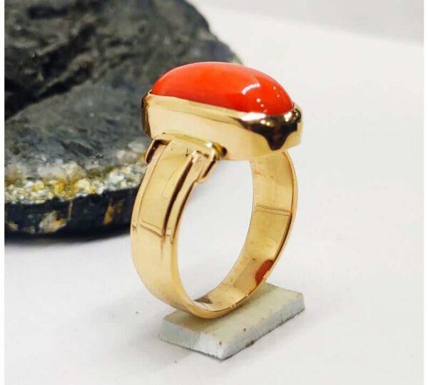 natural coral ring