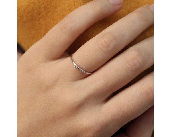 thin moissanite ring