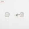 Natural White Pearl Ear Ring In Sterling Siler