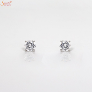Moissanite Ear Ring In Sterling Silver