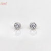 Shine Moissanite Ear Ring In Sterling Silver