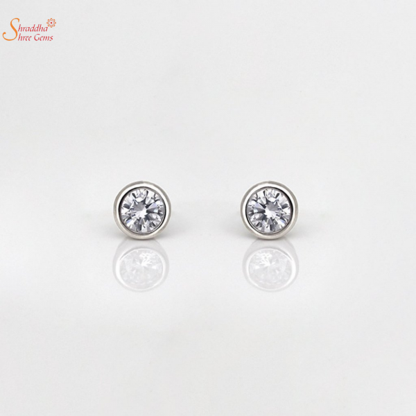Shine Moissanite Ear Ring In Sterling Silver