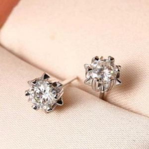 Moissanite Studs Earring Tops