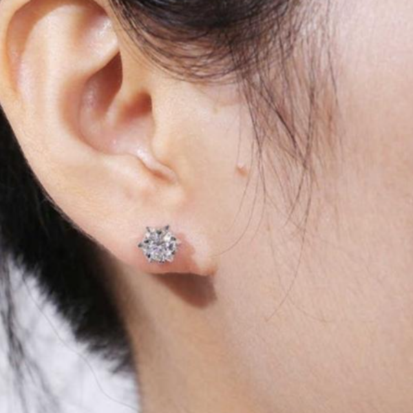 moissanire earring top