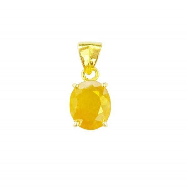 yellow sapphire pendant