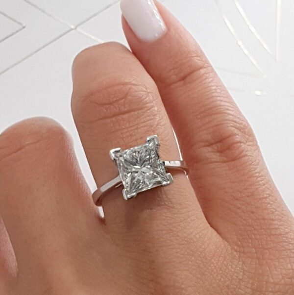men moissanite diamond ring