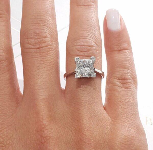 men moissanite diamond ring