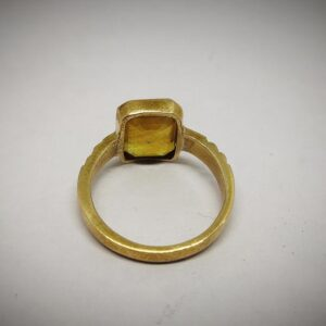 Natural Handmade Certified Yellow Sapphire Ring