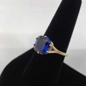 Sapphire ring – Blue Sapphire silver ring sapphire Cushion cut ring, Jewelry, September birthstone, Solitaire ring, christmas gift
