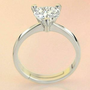 Heart brilliant moissanite diamond ring