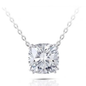 2.00ct Cushion Cut Moissanite Necklace,