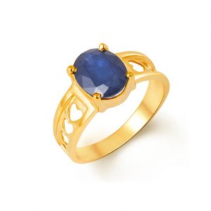 Oval Design Natural And Certified Blue Sapphire Ring