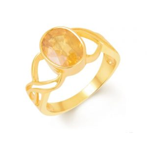 Natural Certified Pukhraj Ring