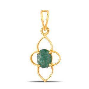 Natural Zambian (Panna) Emerald Pendant