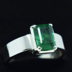 Natural Real Emerald Rings Rectangle