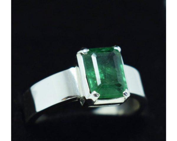 Natural Real Emerald Rings Rectangle