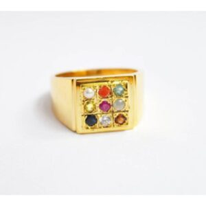 Certified Navratan Gemstones Ring