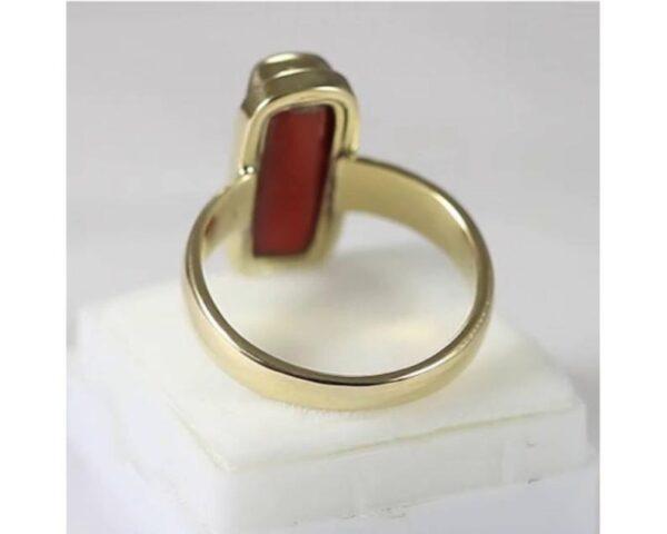 Natural Certified Coral(Moonga) Ring