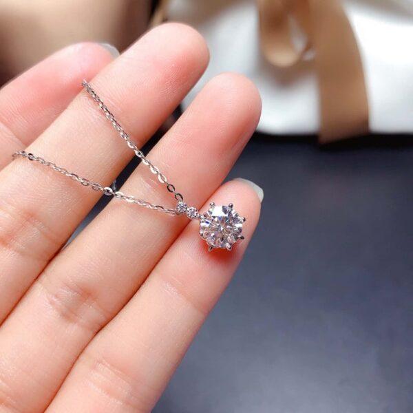 1ct Moissanite Pendant Necklace
