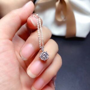 1ct Moissanite Pendant Necklace
