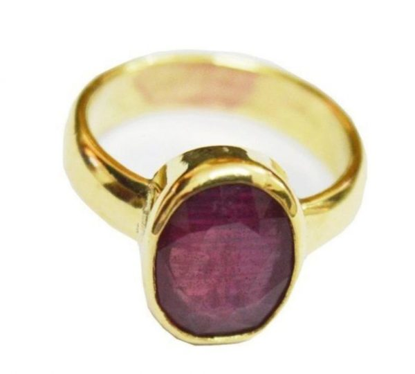 Natural Mozambique Ruby in Panchadhatu Astrology Ring