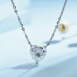 Moissanite Pendants, Moissanite Diamond Necklace Women, In 925 Starling Silver