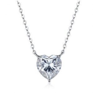 heart moissanite necklace