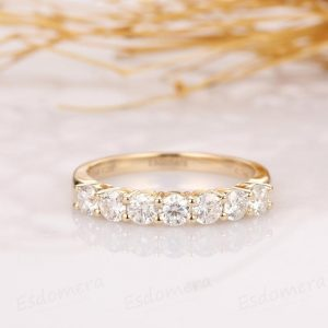multi added moissanite diamond ring