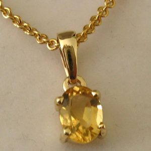 Citrine Pendant In 925 Starling Silver