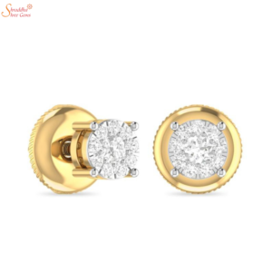 gold plating moissanite diamond earring tops