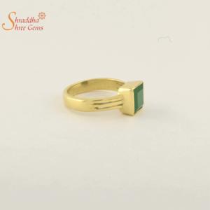 Natural Emerald Ring In Panchdhatu | Natural Panna Ring In Panchdhatu