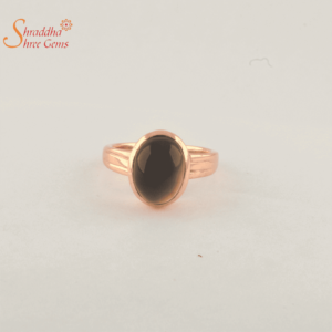 black onyx ring in panchdhatu
