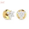 five moissanite stone earring tops
