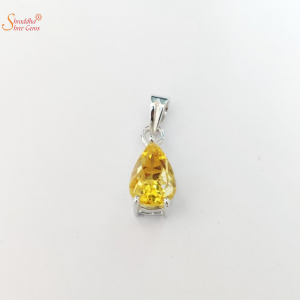 Natural Citrine Pendants In Sterling Silver