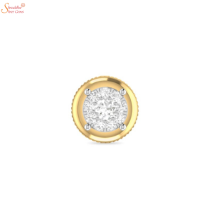 Gold Plating Moissanite Diamond Earring Tops In Sterling Silver