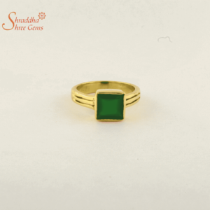 Laboratory certified emerald ring in panchdhatu